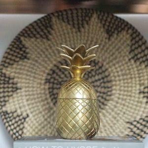 Gold Pineapple Jar